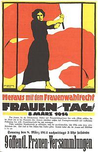 poster 1914 direito do voto feminino